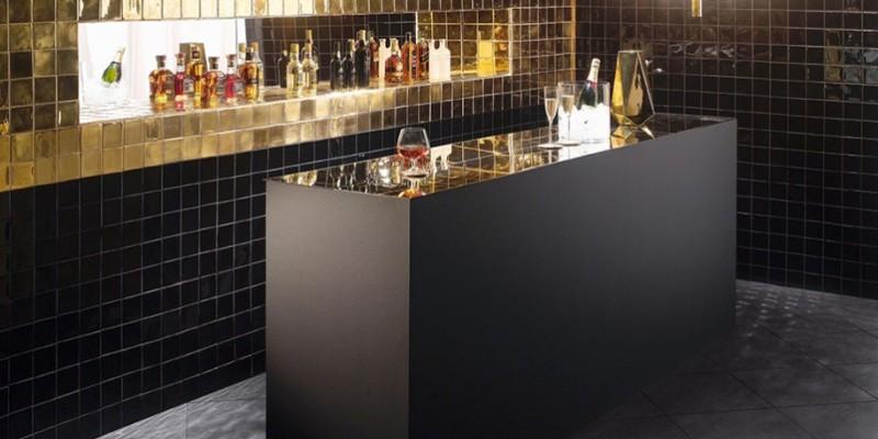 Wandtegel special goud zwart