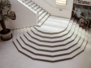 Composiet vloer en traptreden