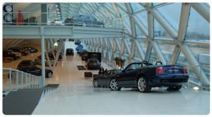Composiet vloertegel autoshowroom 60x60cm Marble Bianco Titanio color