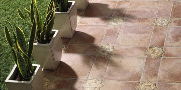 Keramische vloertegel Terracotta Look vloertegel 30x30cm Mediterraans Patroon